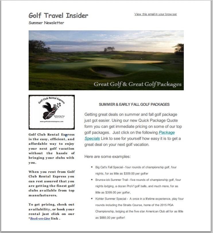 Fall 2014 Icon Golf Club Rental Express Golf Club Rental