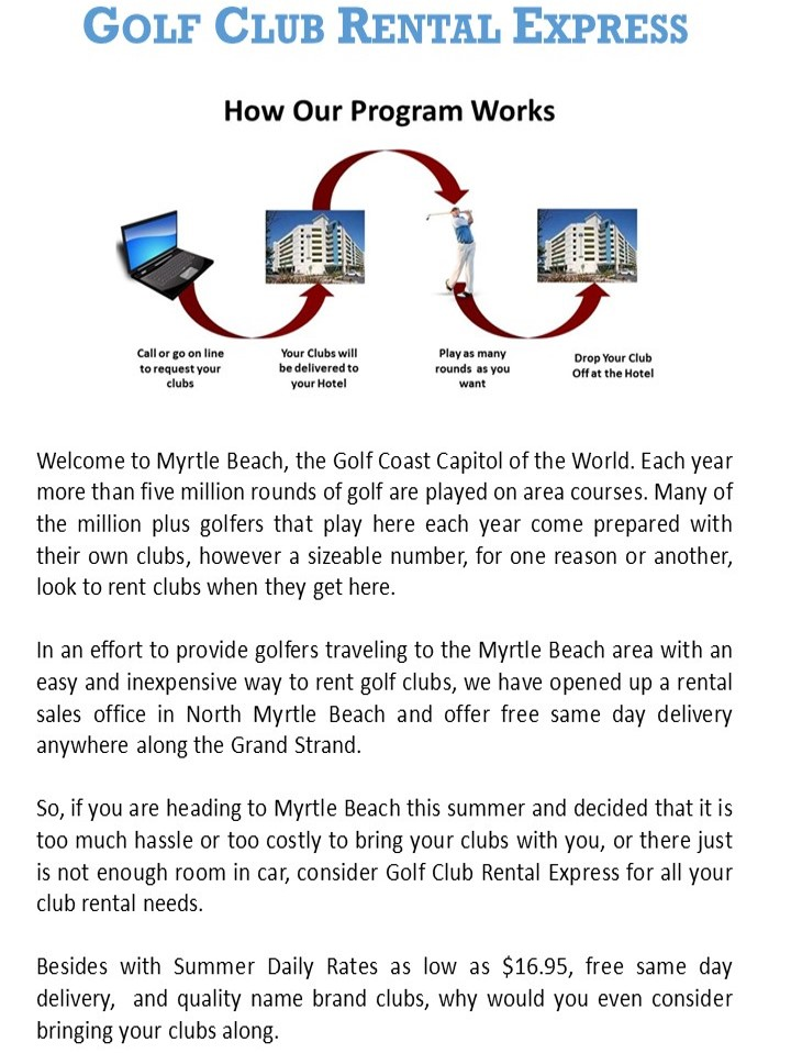 Myrtle Beach Summer Home Page Special